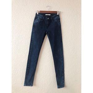 Women's Levi's Skinny Jean with Metal Studs